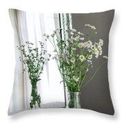 Mirrored Daisies Throw Pillow