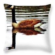 Mirrored Goose Throw Pillow