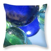 Mirrored Marbles Throw Pillow
