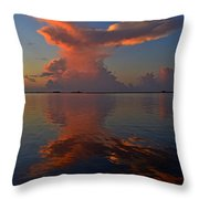 Mirrored Thunderstorm Over Navarre Beach At Sunrise On Sound Throw Pillow