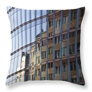 Mirroring On Vitreous Front Throw Pillow