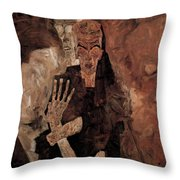 Misery Welcomes Throw Pillow