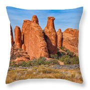 Misfit Rock Formations Throw Pillow