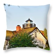 Mispillion Lighthouse - Lewes Delaware Throw Pillow