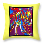 Miss 1966 Poster Design Throw Pillow