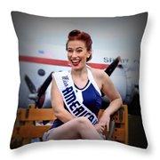 Miss America Throw Pillow