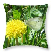 Miss Busy Butterfly Throw Pillow