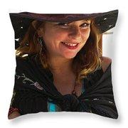 Miss Dawn Throw Pillow