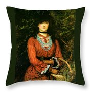 Miss Eveleen Tennant Throw Pillow