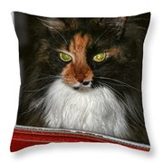 Miss Gizzie Waits By Diana Sainz Throw Pillow