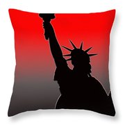 Miss Liberty Abstract Throw Pillow