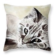Miss Lilly Throw Pillow