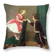 Miss Lilys First Flirtation Throw Pillow