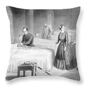 Miss Nightingale In The Hospital Throw Pillow