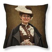 Miss Prim Throw Pillow