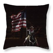 Miss Pro Rodeo Usa Throw Pillow
