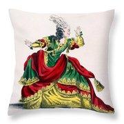 Miss Sainval As Zenobie In Zenobie Throw Pillow