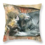 Miss Sam And Miss Marcia Throw Pillow