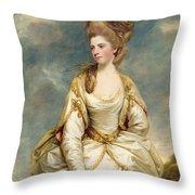Miss Sarah Campbell Throw Pillow by Sir Joshua Reynolds