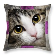 Miss Tilly The Gift 1 Throw Pillow by Andee Design