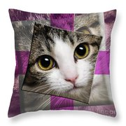 Miss Tilly The Gift 3 Throw Pillow by Andee Design