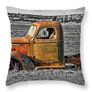 Missing Front Wheels Throw Pillow