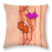 Missing Piece 5 Throw Pillow