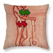 Missing Piece 9 Throw Pillow