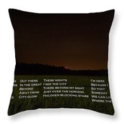 Missing The Sky Throw Pillow