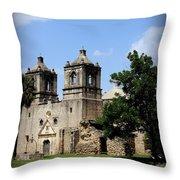 Mission Concepcion - Church Throw Pillow