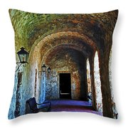 Mission Concepcion Cloister Throw Pillow