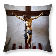Mission Concepcion - Crucifixion Throw Pillow