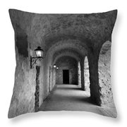 Mission Concepcion Rock Archway Throw Pillow