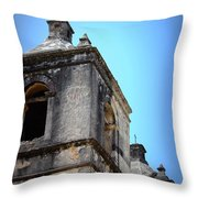 Mission Concepcion - Tower Throw Pillow