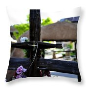 Mission Cross Throw Pillow