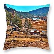 Mission Cusarare Tarahumara Village In Chihuahua-mexico  Throw Pillow