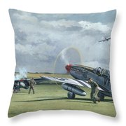 Mission From Debden Throw Pillow