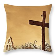 Mission In Sepia Throw Pillow