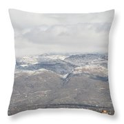 Mission In Winter Throw Pillow