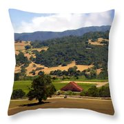 Mission Meadows Solvang California Throw Pillow