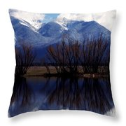 Mission Mountains Mission Valley Throw Pillow