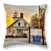 Mission Point Michigan Throw Pillow