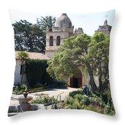 Mission San Carlos Borromeo Del Rio Carmelo Throw Pillow