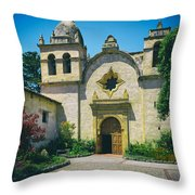 Mission San Carlos - Carmel California Throw Pillow