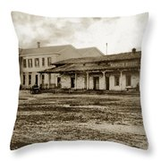 Mission San Francisco De Asis Mission Dolores And Mission House Calif. 1880 Throw Pillow