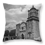 Mission San Jose Bw Throw Pillow