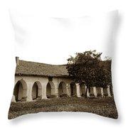 Mission San Juan Bautista San Benito County Circa 1905 Throw Pillow