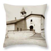 Mission San Luis Obispo Circa 1890 Throw Pillow