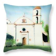 Mission San Luis Rey Dreamy Throw Pillow by Kip DeVore