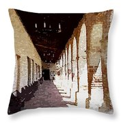 Mission San Miguel Throw Pillow
